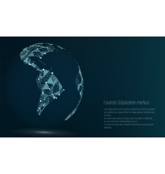 World Map Point South America vector image