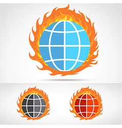 WorldFire vector image vector image
