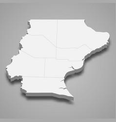 3d isometric map santa cruz is a province vector
