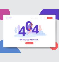 404 error page vector