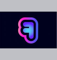 7 pink blue gradient number logo icon design vector image