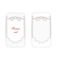 A set of two vintage business cards the picture vector