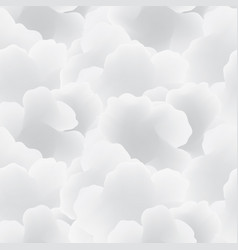 abstract white cloud sky seamless pattern flow vector image