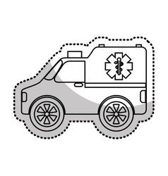 Ambulance medical vehicle icon vector