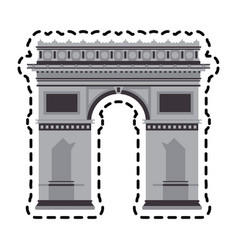 Arc of triomphe vector