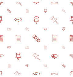 Attach icons pattern seamless white background vector