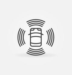 autonomous automobile linear icon self driving vector image