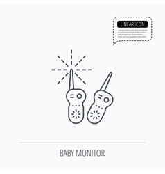 Baby monitor icon Nanny for newborn sign vector