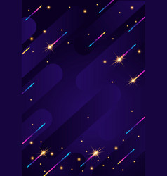 banner with chaotic geometric rainbow stripes vector image