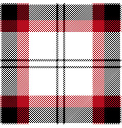 black and red tartan plaid seamless pattern vector image