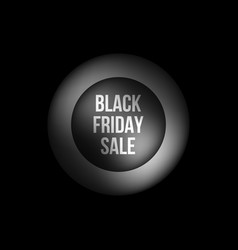 black friday sale premium bubble badge template vector image