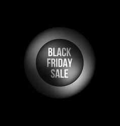 black friday sale premium bubble badge template vector image