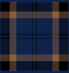 blue black and brown tartan plaid seamless pattern vector image