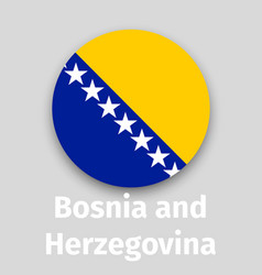 Bosnia and herzegovina flag round icon vector