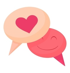 Bubble speech love icon cartoon style vector