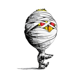 Chick mummy vector image