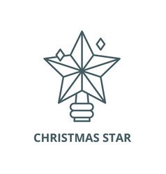 christmas star line icon linear concept vector image
