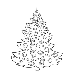 Christmas tree cartoon coloring book Royalty Free Vector