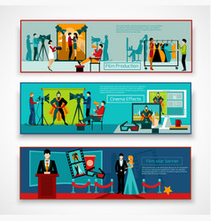 Cinema People Banner Set vector