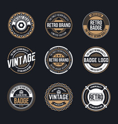 Circle vintage and retro badge design vector
