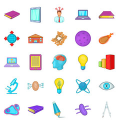 Cognizance icons set cartoon style vector