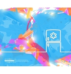 Creative fridge Art template vector image