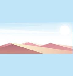 desert dunes in pastel vector image