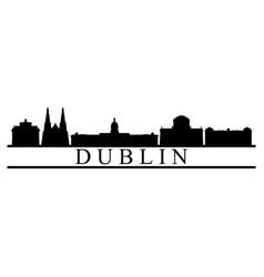 dublin skyline vector image