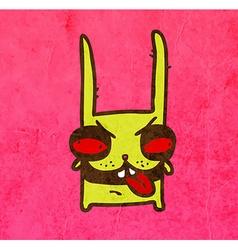 Evil Bunny Cartoon vector