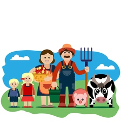 farm family vector image