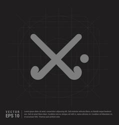 field hockey sticks icon - black creative vector image