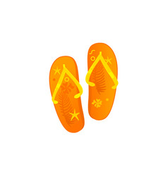 flat beach slippers flip flops icon vector image