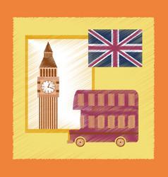 flat shading style icon united kingdom set vector image