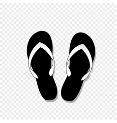 flip-flops icon isolated on transparent background vector image