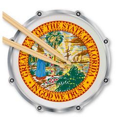 Florida snare drum vector