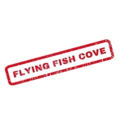 Flying Fish Cove Rubber Stamp vector
