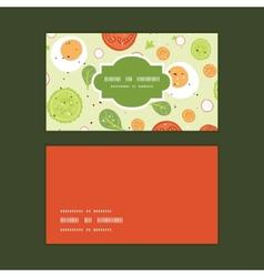 fresh salad horizontal frame pattern business vector image