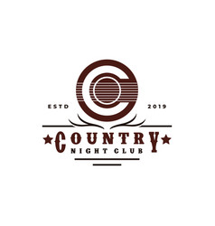Guitar country music western vintage retro saloon vector