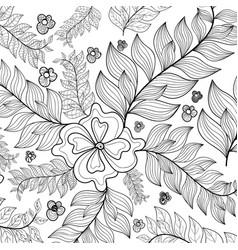 Hand drawn sunflowers ornament foranti stress vector