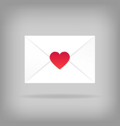 happy valentine s day envelope vector image
