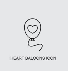 Heart balloons icon vector