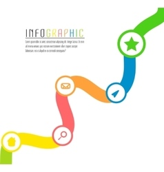 Info graphic path with different colors and vector