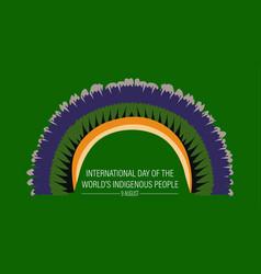 International day world s indigenous vector