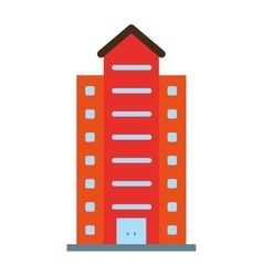 Isolated building tower design vector