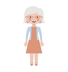 Isolated grandmother cartoon design vector image