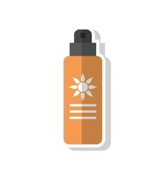 Isolated sunscreen bottle design vector