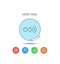 Klaxon signal icon car horn sign vector