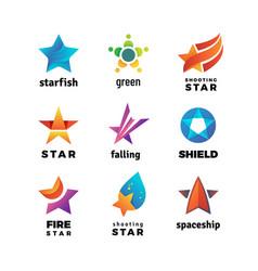 leader star rising stars logo comet vector image