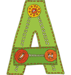 Letter a in patchwork style vector