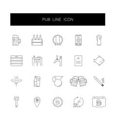 line icons set pub pack vector image